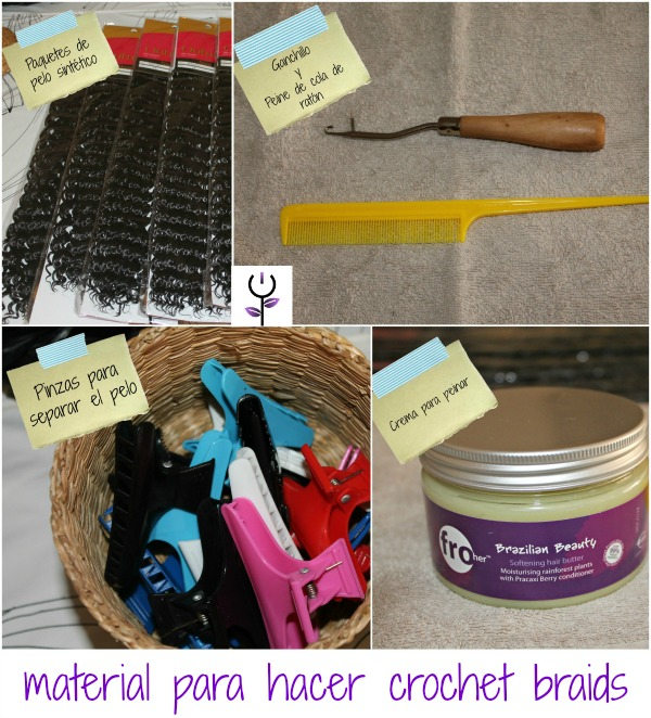 Material para crochet braids