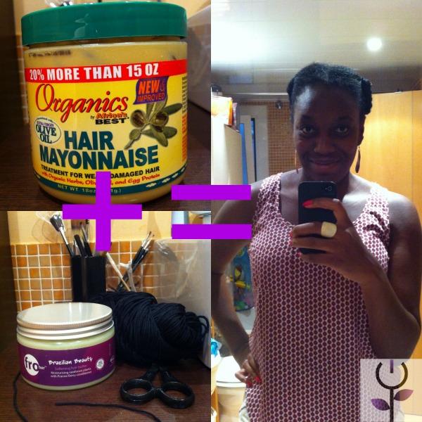 Tratamiento de proteínas + crema de peinado = African threading