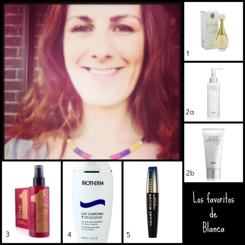 los productos cosméticos favoritos de Blanca