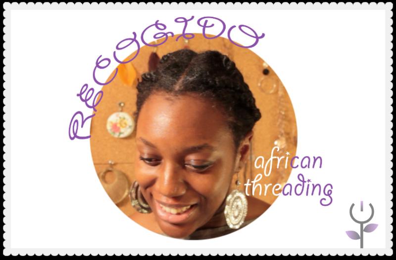 Recogido para pelo afro con african threading