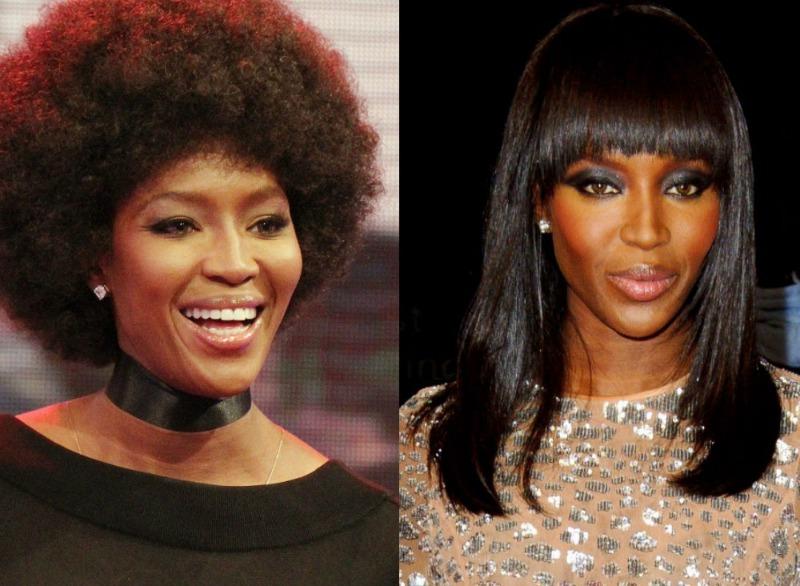 El pelo afro de Naomi Campbell