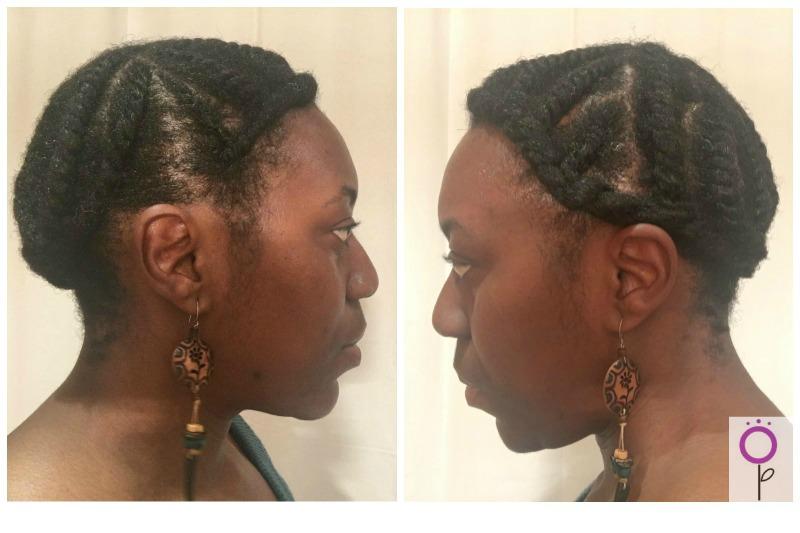 Estilo protector para pelo afro flat twist