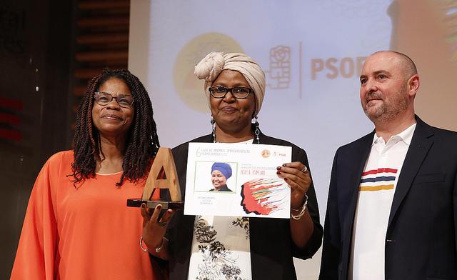 Premio Afrosocialista Honorífico 2016 para Asha Ismail.