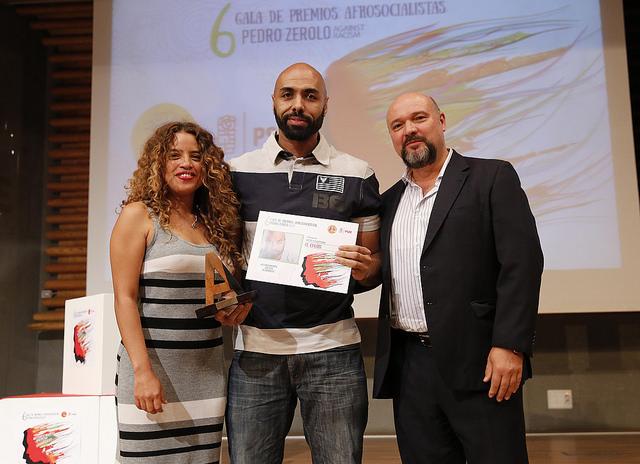 El Chojin, galardonado con el premio afrosocialistas Arte y Cultura.