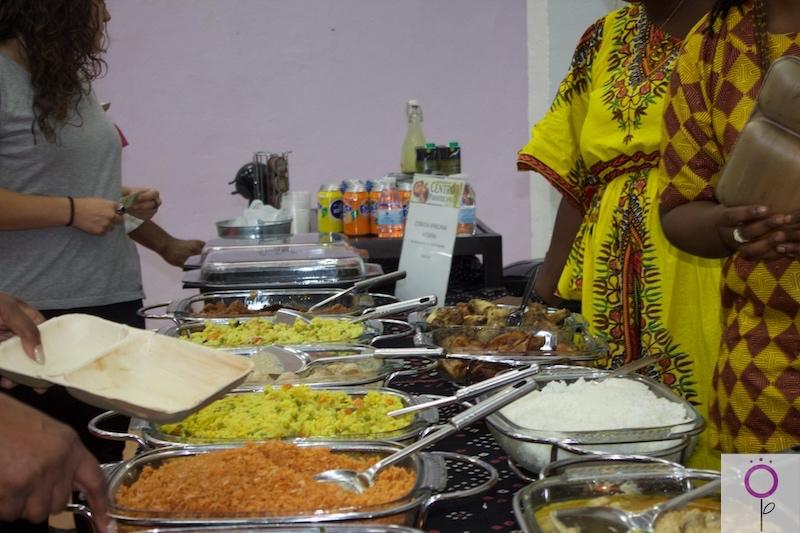 Muestra gastronómica africana